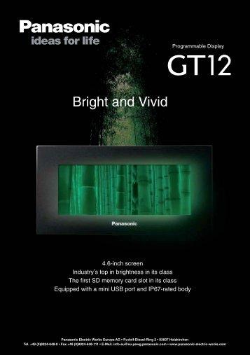 Data sheet GT12 (0,15MB) - Panasonic Electric Works Europe AG