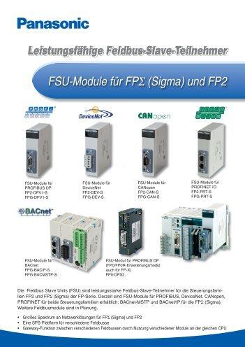 Feldbus Slave Module für FP-Sigma und FP2 - Panasonic Electric ...