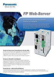 Datenblatt FP Web-Server - Panasonic Electric Works Austria GmbH