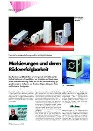 Markierungen und deren Rückverfolgbarkeit - Panasonic Electric ...