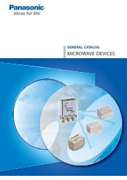 Catalog Microwave Devices, 03/2012 - Panasonic Electric Works ...
