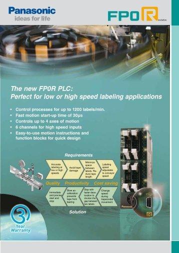 Data sheet FP0R - Panasonic Electric Works Europe AG