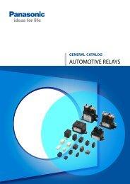 Automotive Relays Catalog - Panasonic Electric Works Europe AG