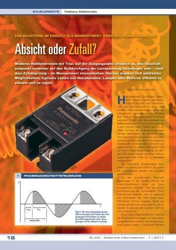 Absicht oder Zufall? - Panasonic Electric Works Schweiz AG