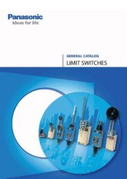 Catalog limit switches (2,00MB) - Panasonic Electric Works Europe AG