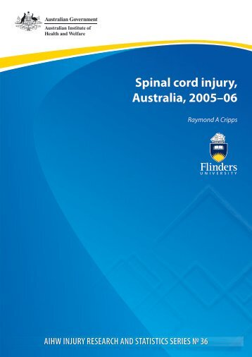 Spinal cord injury, Australia, 2005–06 - Research Centre for Injury ...
