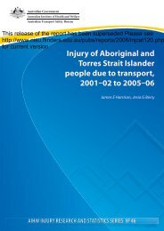 Injury of Aboriginal and Torres Strait Islander ... - ResearchGate