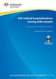 Fall-related hospitalisations among older people - Research Centre ...