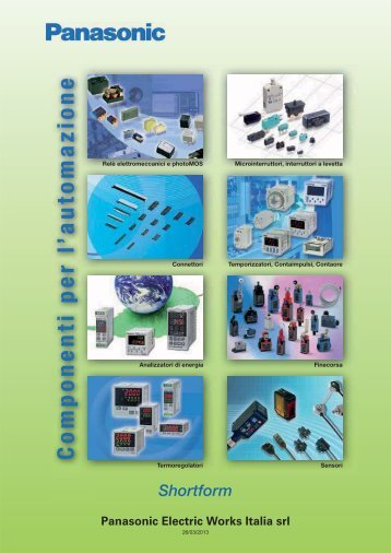 Catalogo componenti - Panasonic Electric Works Italia SRL