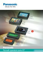 Pannelli operatore serie GT - Panasonic Electric Works Italia SRL