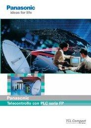 Telecontrollo con PLC serie FP - Panasonic Electric Works Italia SRL