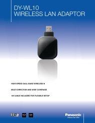 DY-WL10 WIRELESS LAN ADAptoR - Panasonic