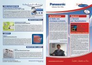 Industrial Automation and More... - Panasonic Electric Works Italia SRL