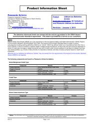 Lithium Ion Product Information Sheet - Inspired Energy