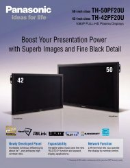 Boost Your Presentation Power with Superb Images ... - Panasonic