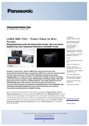 LUMIX DMC-TZ61 – Power-Paket im Mini- Format ... - Panasonic