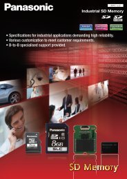 Industrial SD Memory • Specifications for industrial ... - Panasonic