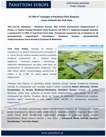 nowy budynek dla Tech Data - Panattoni
