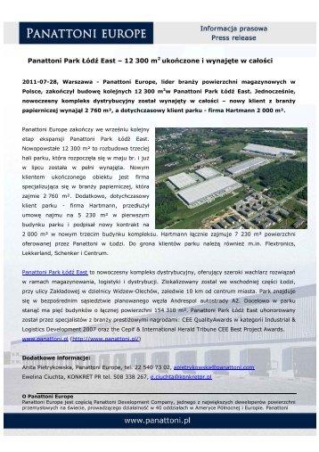 Panattoni Park Łódź East – 12 300 m2 ukończone i wynajęte w całości