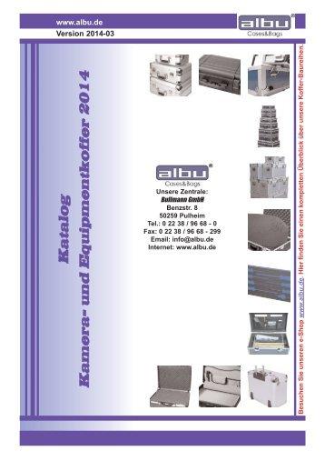 albu Cases&Bags - Katalog: Kamera- und Equipmentkoffer 2014