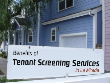 Hire Tenant Screening Services in La Mirada