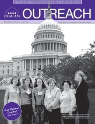 Outreach July 2007 - Pancreatic Cancer Action Network