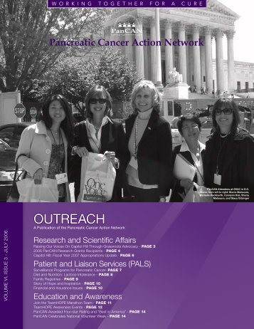 Outreach July 2006 - Pancreatic Cancer Action Network