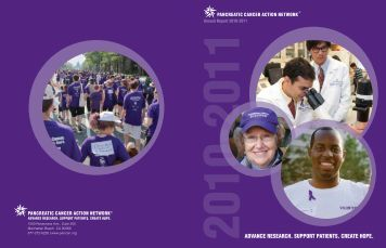 Annual Report for Fiscal Year 10-11 - Pancreatic Cancer Action ...