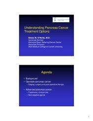 Understanding Pancreas Cancer Treatment Options Agenda