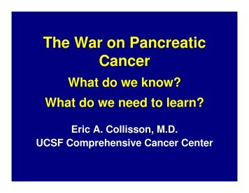 The War on Pancreatic Cancer