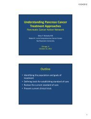 Treatment Approaches - Pancreatic Cancer Action Network