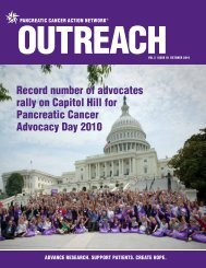 Outreach - Pancreatic Cancer Action Network