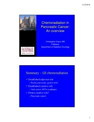 Chemoradiation in Pancreatic Cancer: An overview Summary – GI ...