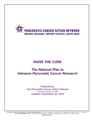 raise the cure - Pancreatic Cancer Action Network