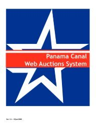 User's Guide - Panama Canal
