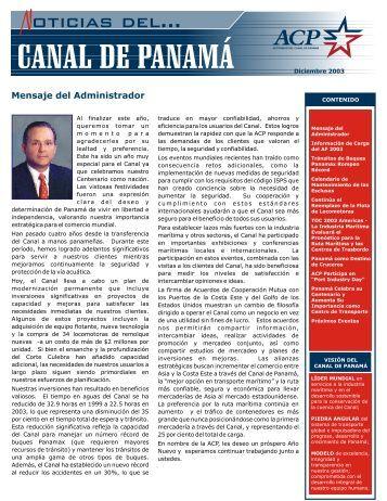 NL 11-03 ING ESPANOL.cdr - Panama Canal