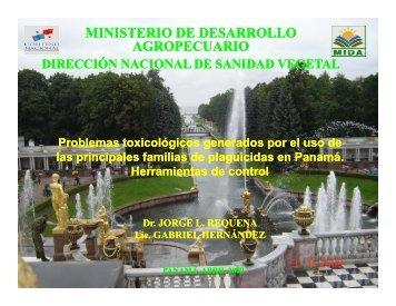 Problemas toxicológicos generados por el uso de ... - Panama Canal