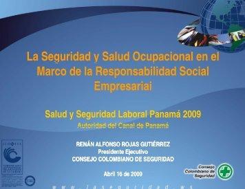 La Seguridad y Salud Ocupacional en el marco de ... - Panama Canal