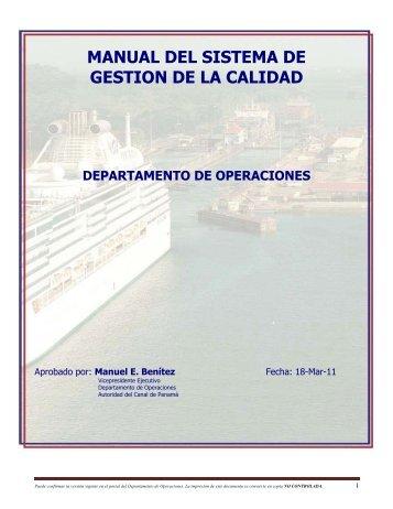 MANUAL DE CALIDAD - Panama Canal