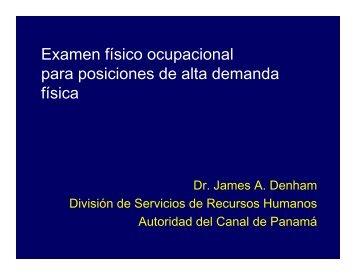 Examen físico ocupacional para posiciones de alta ... - Panama Canal