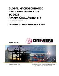 GLOBAL MACROECONOMIC AND TRADE ... - Canal de Panamá