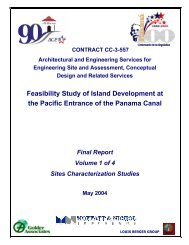 Feasibility Study of Island Development at the ... - Canal de Panamá