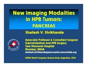 New Imaging Modalities in HPB Tumors: - Pancreatic Cancer India