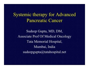 Systemic therapy for Advanced Pancreatic Cancer