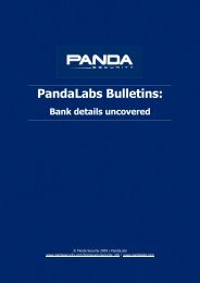 PandaLabs Bulletins: Bank Details Uncovered - Panda Security
