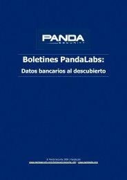 Datos bancarios al descubierto - Panda Security