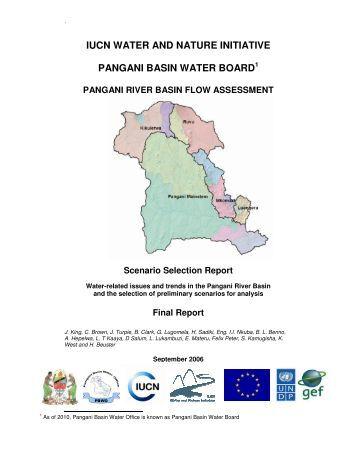 Water-related issues and trends in the Pangani River Basin - IUCN