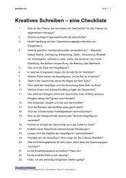 Kreatives Schreiben – eine Checkliste - pangloss.de