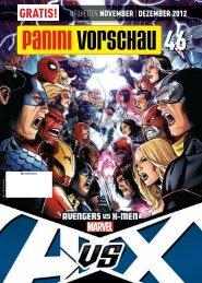 gratis! neuheiten november | dezember 2012 - Panini Comics