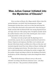 Was Julius Caesar Initiated into the Mysteries of Eleusis? - Panix